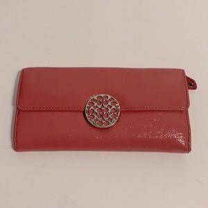Coach Patent Leather Alexandria Tri-fold Wallet